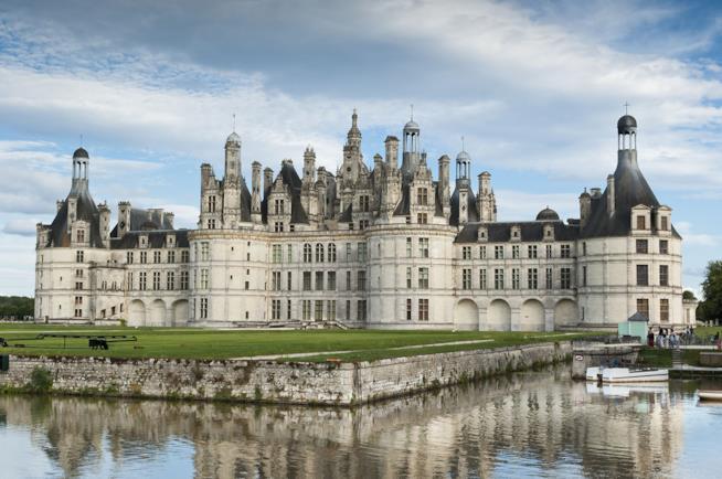 Panorama del Castello di Chambord in Francia