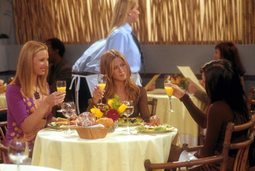 Lisa Kudrow, Jennifer Aniston e Courtney Cox in Friends