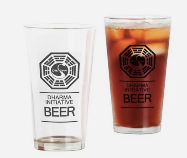 I bicchieri della birra a tema Progetto Dharma