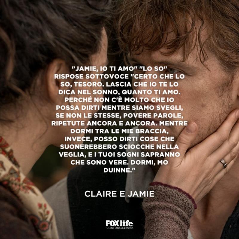 Primo piano Jamie e Claire