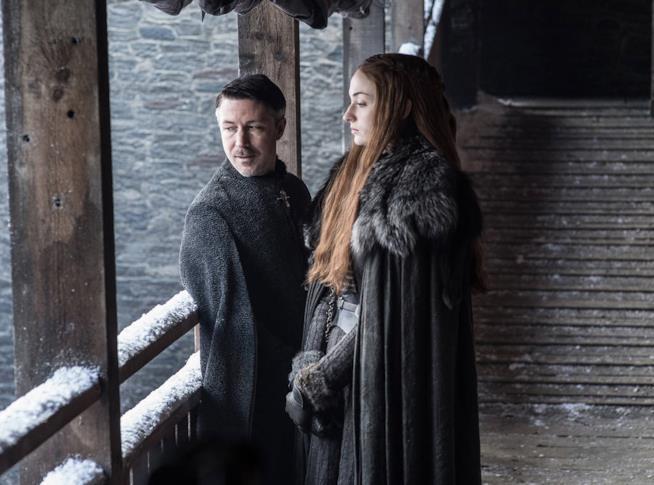 Sansa Stark in una scena di Game of Thrones 7