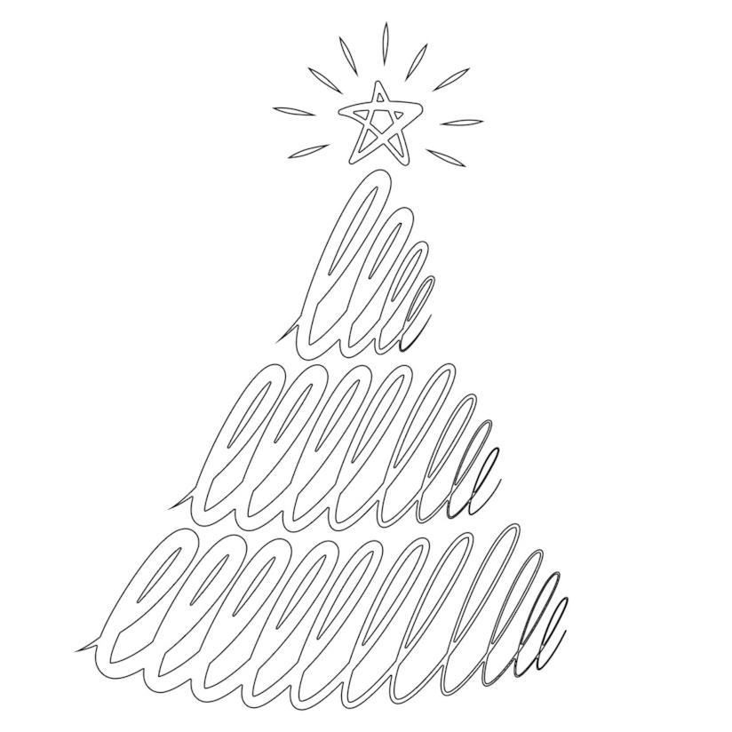 Disegno di Albero di Natale