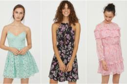 Abiti in pizzo e a fiori per il catalogo di H&M