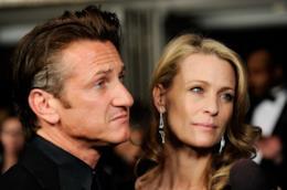 Sean Penn e l'ex moglie Robin Wright