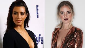 Chiara Ferragni e Kim Kardashian in un collage