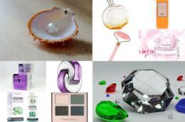 cosmetici che contengono smeraldi, quarzo rosa e ambra