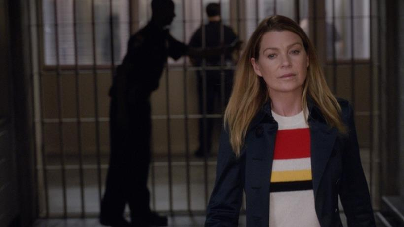 Meredith in un'immagine da Grey's Anatomy