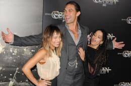 Jason Momoa con Zoë Kravitz e Lisa Bonet in una vecchia foto
