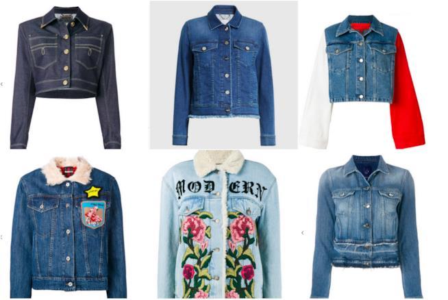 Collage di giacche di jeans