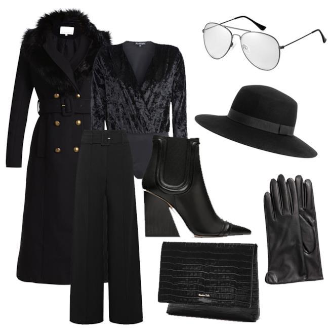 Idee outfit total black per budget di 1000 euro