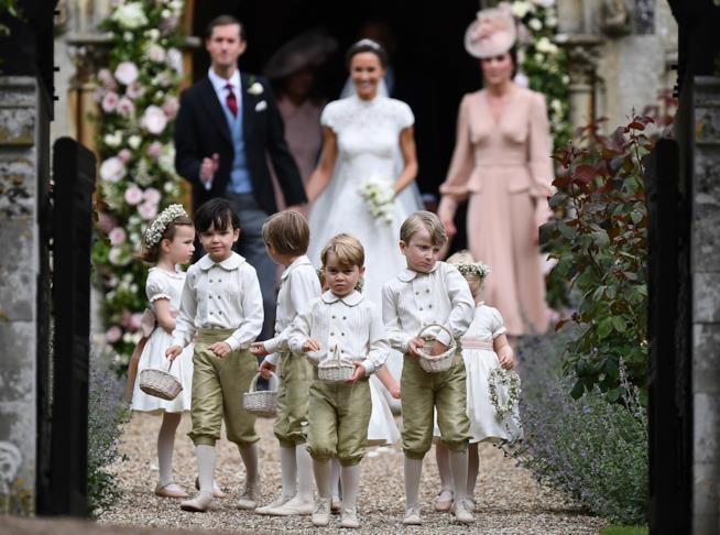 George al matrimonio di Pippa Middleton