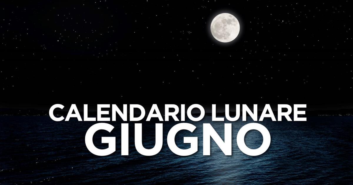 Calendario Lunare Salute E Bellezza.Calendario Lunare Di Giugno 2019 Segno Per Segno