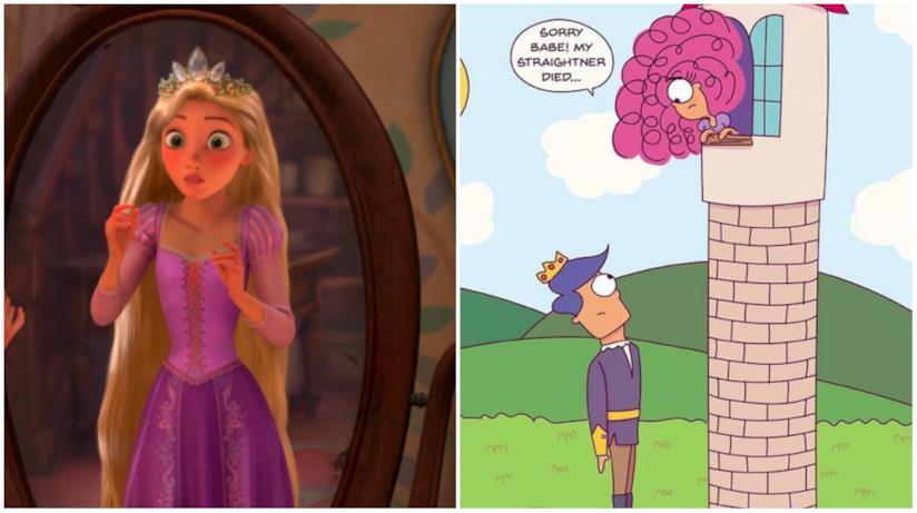 Un collage tra Rapunzel e Rapunzel di Angela Vaz