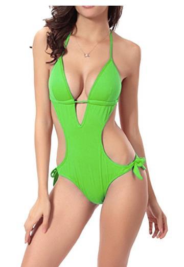 Costume verde con laccetti