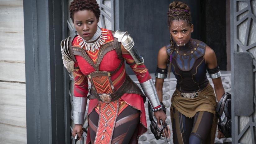 Lupita Nyong'o e Danai Gurira donne combattenti in Black Panther