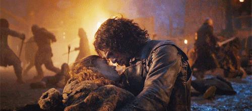 Jon dice addio a Ygritte, morente tra le sue braccia
