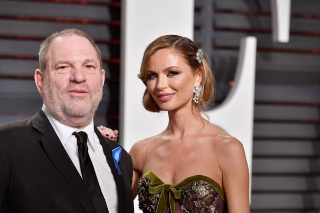 Harvey Weinstein con l'ex moglie Georgina Chapman