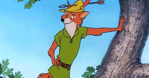 Robin Hood in una scena dell'omonimo Classico Disney