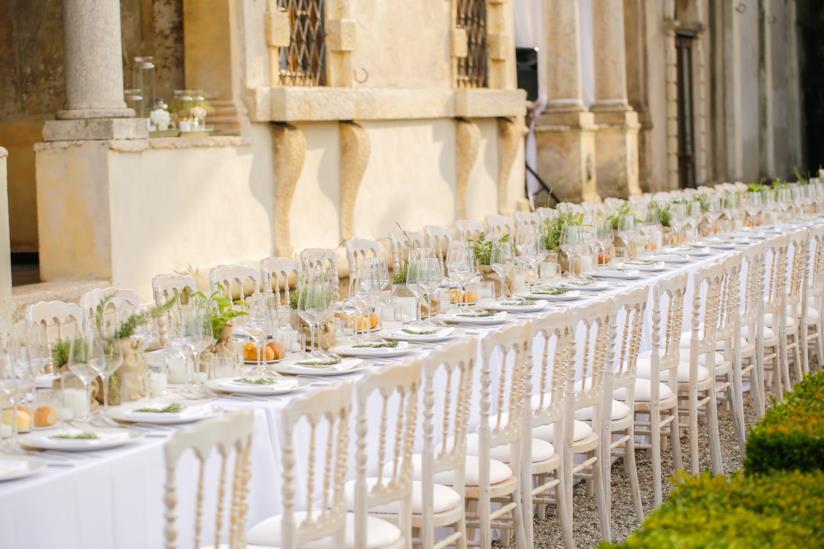 Tavolo imperiale per pranzo nozze