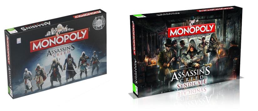 Due edizioni del Monopoli ispirate ad Assassin's Creed