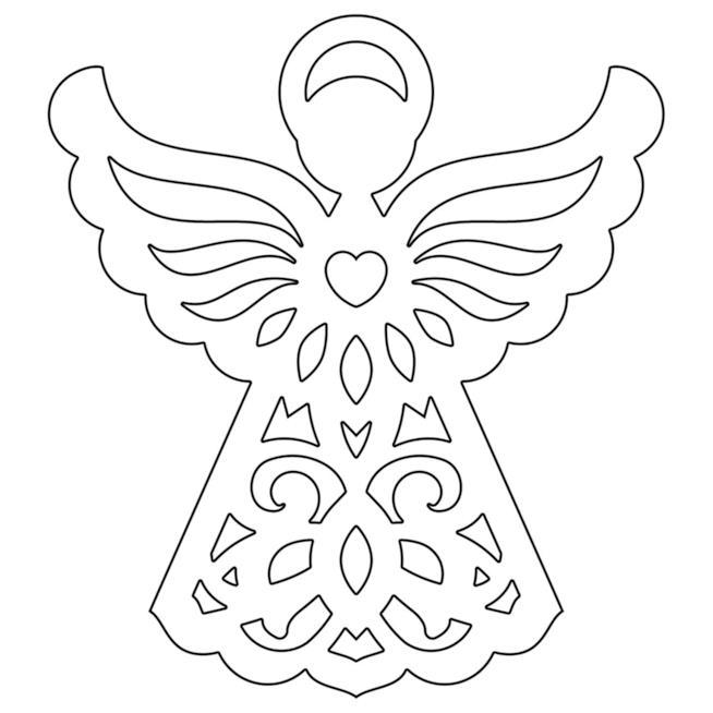 Lavoretti di natale con il cartoncino: forma di angelo