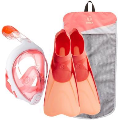 bf4c444faf Kit snorkeling Easybreath corallo rosa