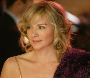 L'attrice Kim Cattrall in Sex and The City