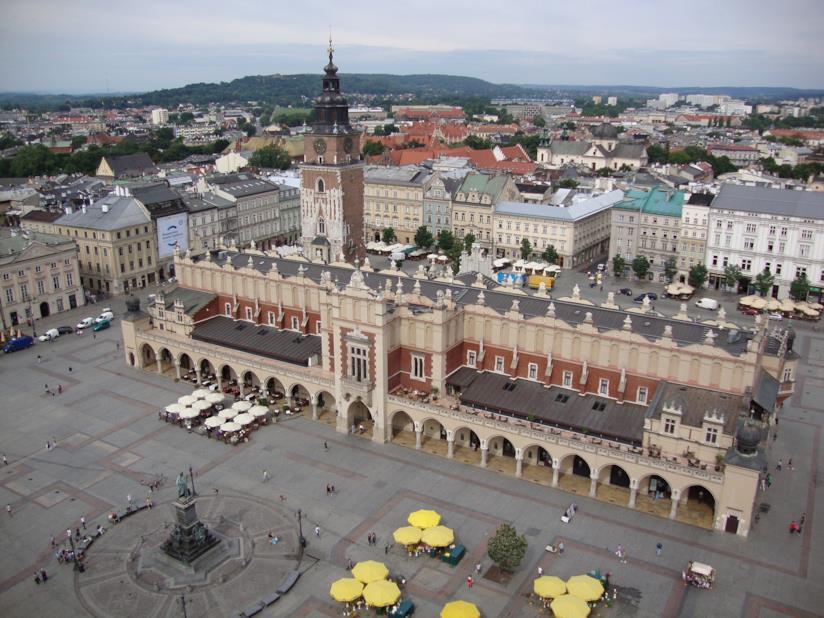 La piazza centrale di Cracovia: Rynek Główny