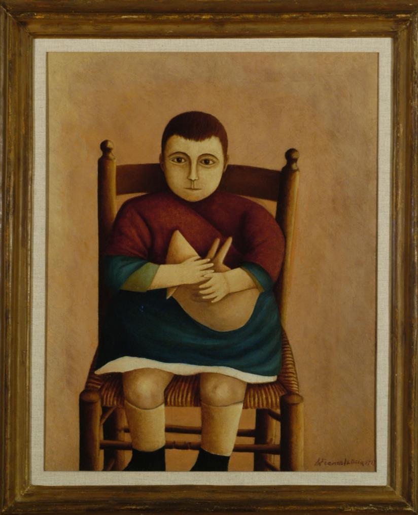 Riccardo Francalancia Ritratto di Gustavo, 1923 olio su tela, cm 60x50 Museo della Scuola Romana, Villa Torlonia