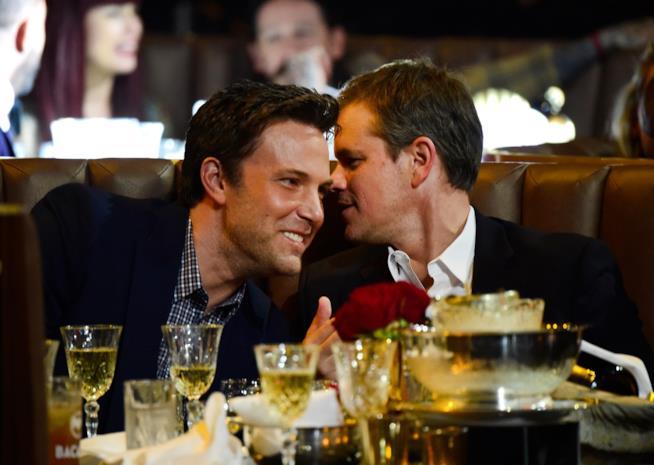 Ben Affleck e Matt Damon a tavola insieme