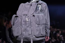 Zaino oversize LV in jacquard grigio