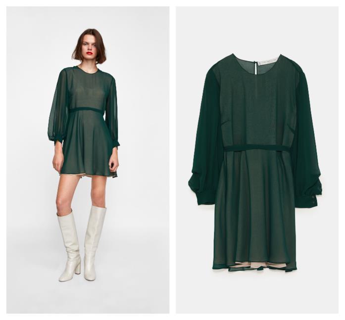 Vestito corto di moda per l'autunno inverno 2018-19