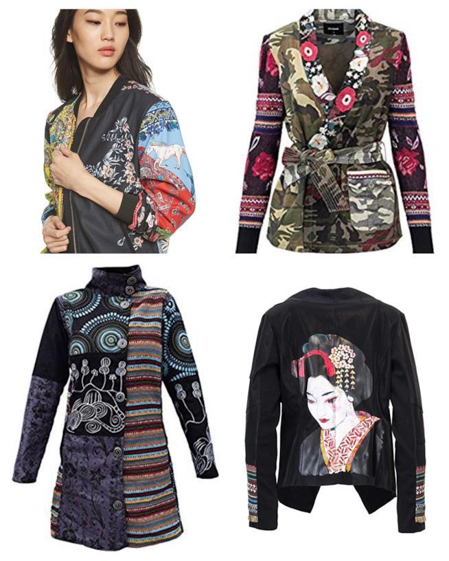 Giacche patchwork di moda per l'autunno 2018