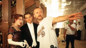 Kate Winslet, Leonardo DiCaprio e James Cameron