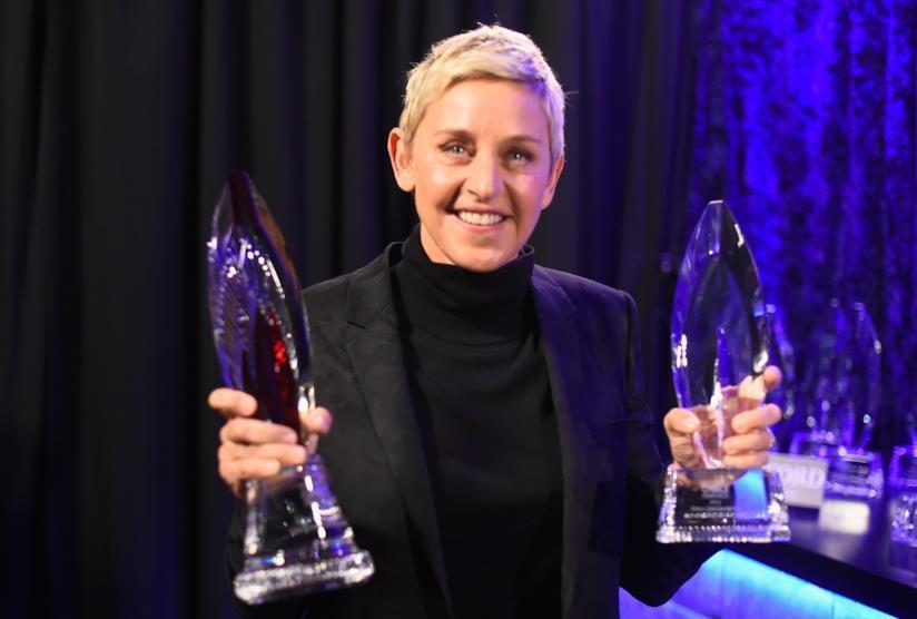 La pluripremiata conduttrice Ellen DeGeneres