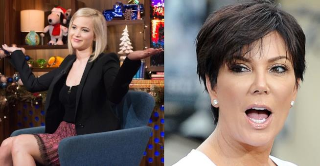 L'attrice Jennifer Lawrence e la reality star Kris Jenner