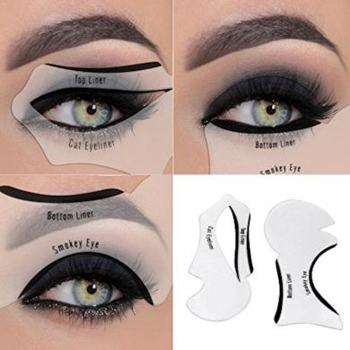 Eyeliner Stencil Tool-nero