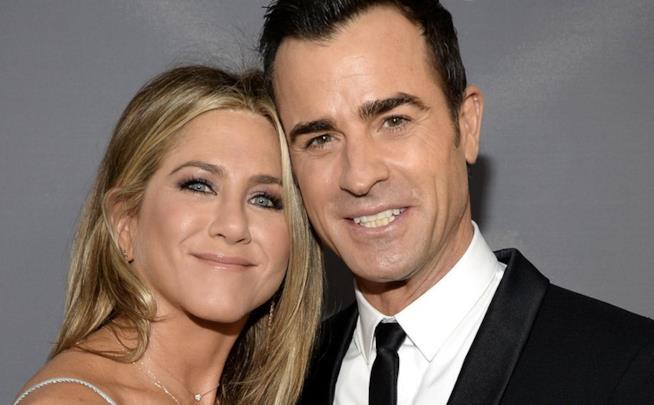 Una foto di Jennifer Aniston con il marito Justin Theroux
