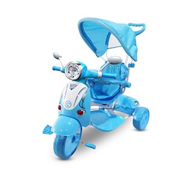 Triciclo a spinta celeste