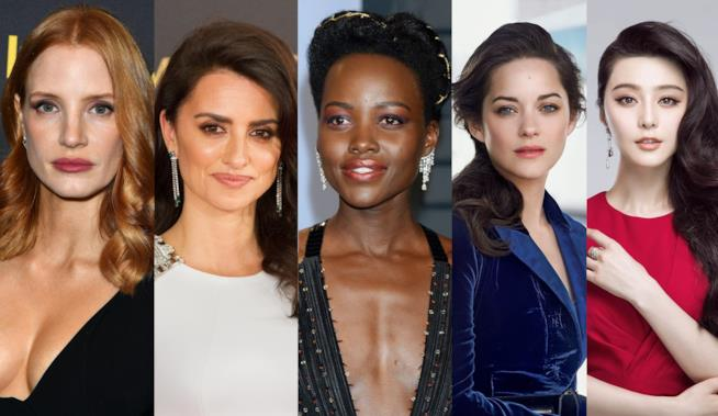 Jessica Chastain, Lupita Nyong'o, Marion Cotillard, Penelope Cruz e Fan Bingbing