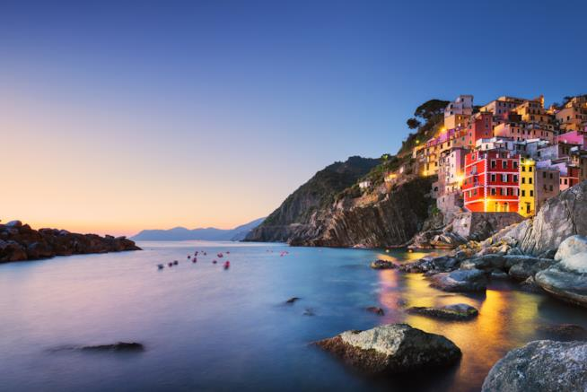 Tramonto sul Mare della Liguria