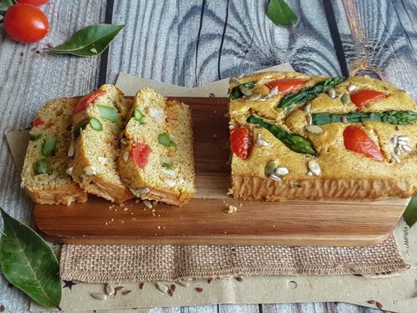 Plumcake con asparagi