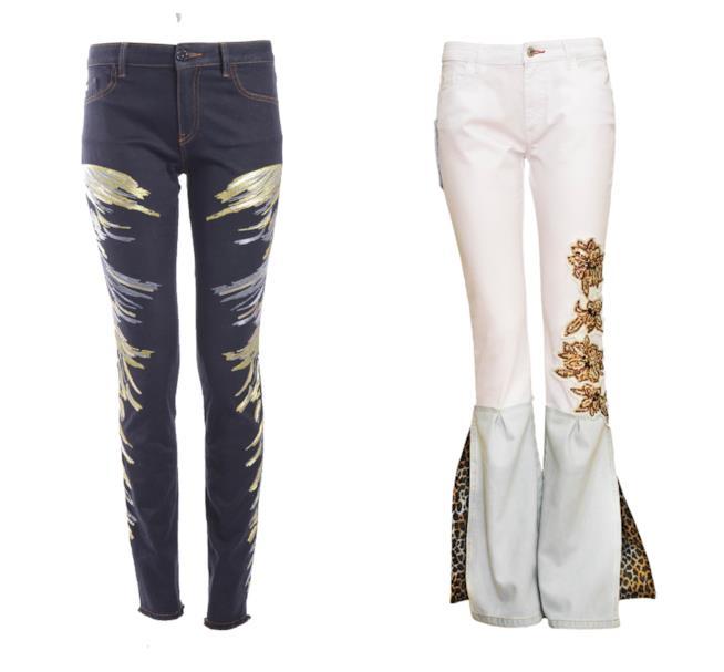 Con ricami e paillettes in oro, i jeans di tendenza per l'estate 2018