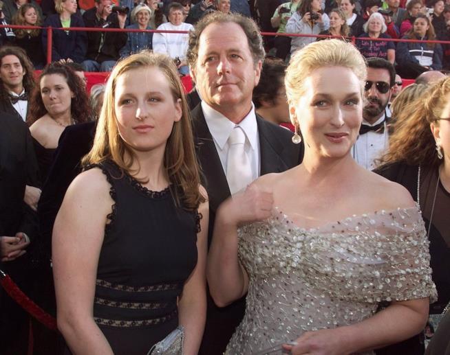 Meryl Streep con la famiglia alla notte degli Oscar