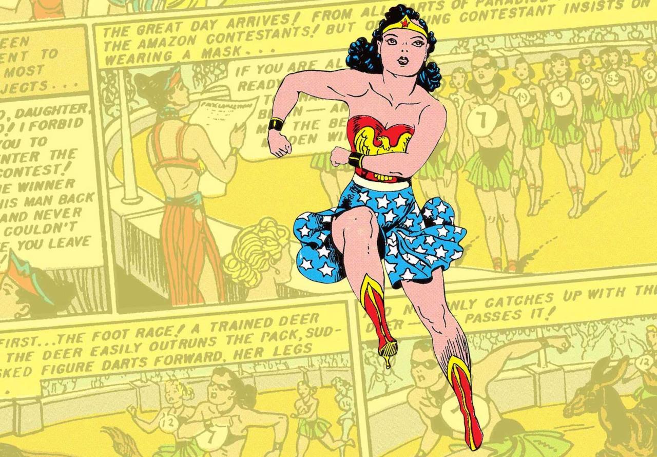 Superwoman cartoon sessoequitazione un grosso gallo nero