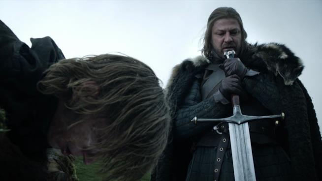 Eddard Stark in una scena della prima stagione