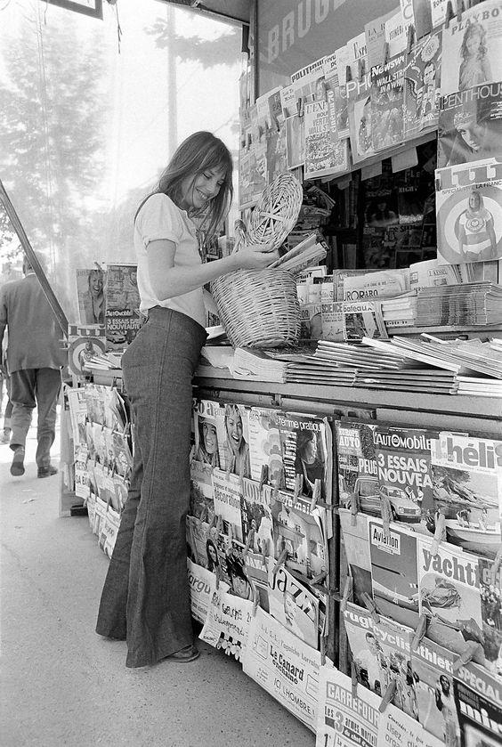 Jane Birkin con la borsa di paglia