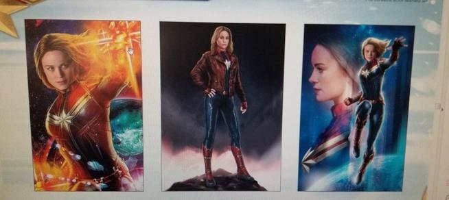 Captain Marvel poster e promo art