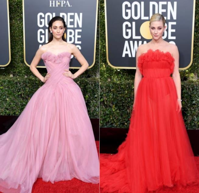 Emmy Rossum e Lili Reinhart ai Golden Globes 2019