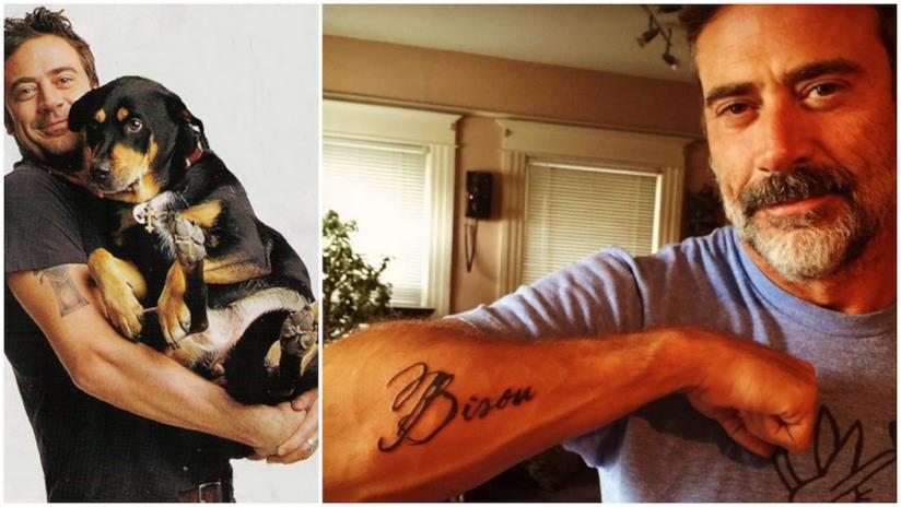 Jeffrey Dean Morgan con Bisou